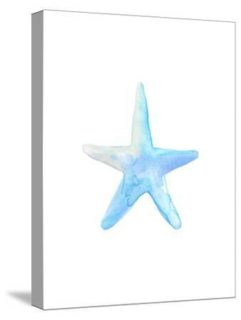 Blue Watercolor Starfish-Jetty Printables-Stretched Canvas Print