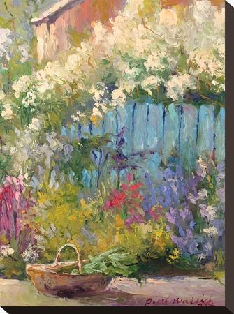 Blue Fence-Richard Wallich-Stretched Canvas Print