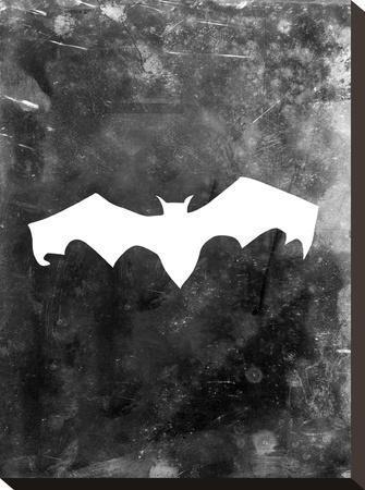 Black Bat Halloween-Jetty Printables-Stretched Canvas Print