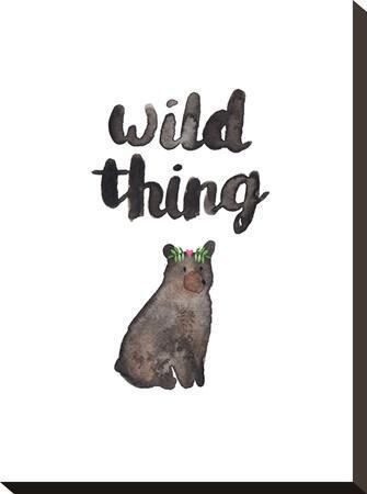 Wild Thing Bear-Elena O'Neill-Stretched Canvas Print