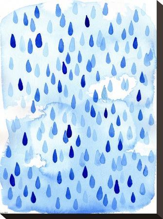 Raindrops-Paula Mills-Stretched Canvas Print