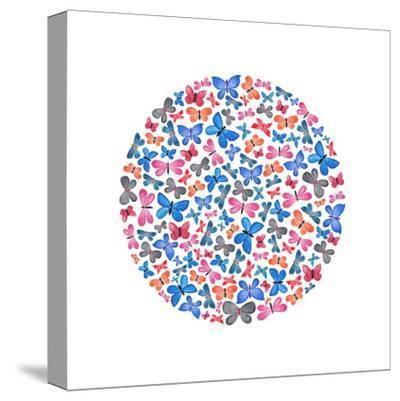 Butterfly Circle-Elena O'Neill-Stretched Canvas Print