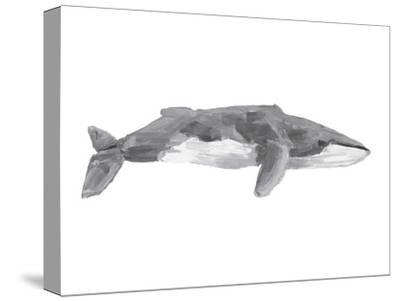 Fin Whale Painting Print-Jetty Printables-Stretched Canvas Print