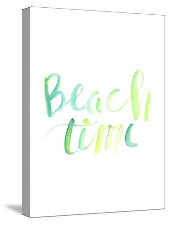 Watercolor Beach Time Typography-Jetty Printables-Stretched Canvas Print