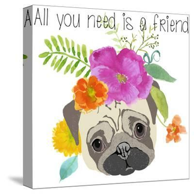 All You Need Is A Friend-Edith Jackson-Stretched Canvas Print