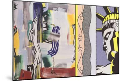 Painting with Statue of Liberty-Roy Lichtenstein-Mounted Art Print