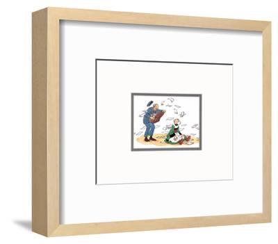 Becassine et le postier-Unknown-Framed Art Print