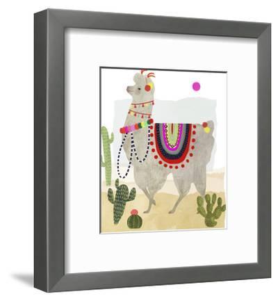 Llamarama I-Victoria Borges-Framed Art Print