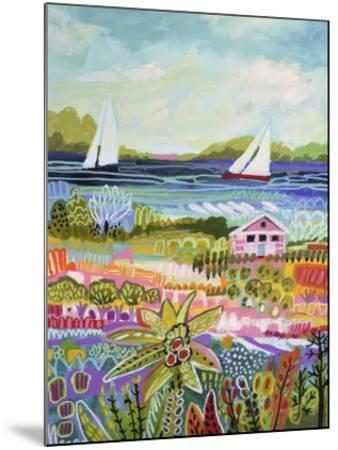 Two Sailboats and Cottage I-Karen  Fields-Mounted Art Print