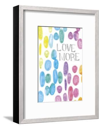 Vibrant - Love More-Lottie Fontaine-Framed Art Print