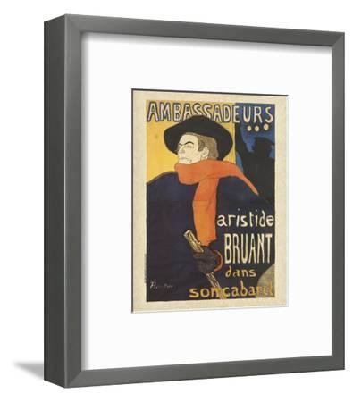 Les Ambassadeurs: Aristide Bruant-Henri de Toulouse-Lautrec-Framed Art Print