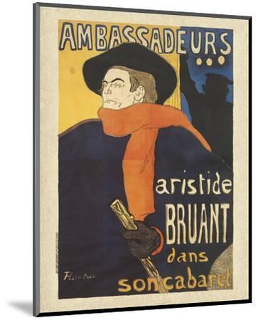 Les Ambassadeurs: Aristide Bruant-Henri de Toulouse-Lautrec-Mounted Art Print
