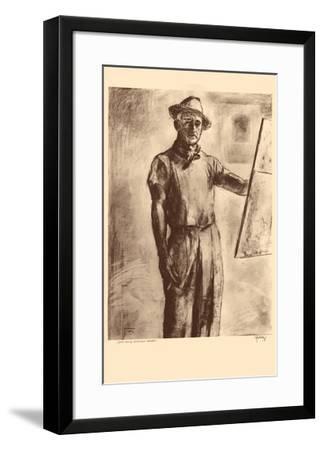 John Kelly Self Portrait - Honolulu Hawaii - from Etchings and Drawings of Hawaiians-John Melville Kelly-Framed Premium Giclee Print
