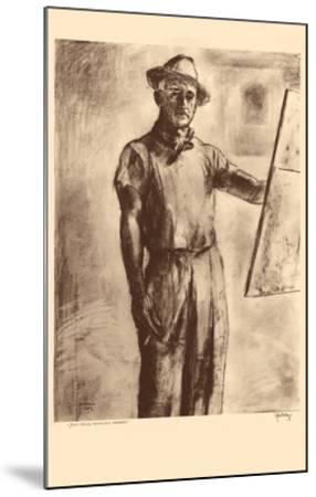 John Kelly Self Portrait - Honolulu Hawaii - from Etchings and Drawings of Hawaiians-John Melville Kelly-Mounted Premium Giclee Print