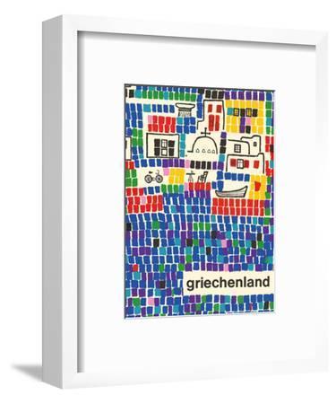 Greece (Griechenland)-Pacifica Island Art-Framed Art Print