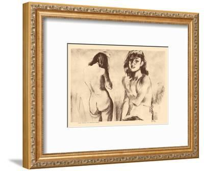 Nude Studies for Etchings - from Etchings and Drawings of Hawaiians-John Melville Kelly-Framed Art Print