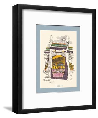 Taipei Taiwan - National Palace Museum - TWA (Trans World Airlines) Menu Cover-David Klein-Framed Art Print