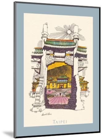Taipei Taiwan - National Palace Museum - TWA (Trans World Airlines) Menu Cover-David Klein-Mounted Art Print