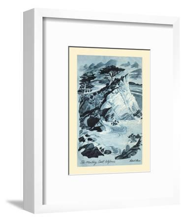 Monterey Coast, California - TWA (Trans World Airlines) Menu Cover-David Klein-Framed Art Print