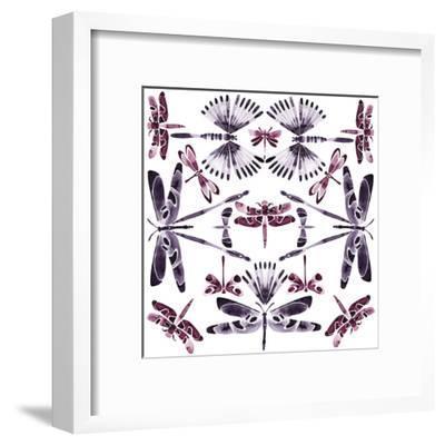 Kaleidoscope Dragonflies-Kristine Hegre-Framed Giclee Print
