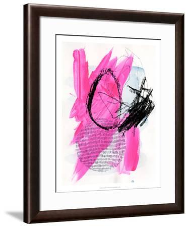 Neon Flamingos I-Jennifer Paxton Parker-Framed Art Print