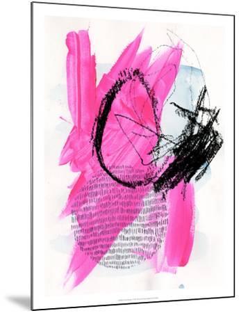 Neon Flamingos I-Jennifer Paxton Parker-Mounted Art Print