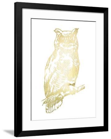 Gold Foil Owl II-Jennifer Goldberger-Framed Art Print
