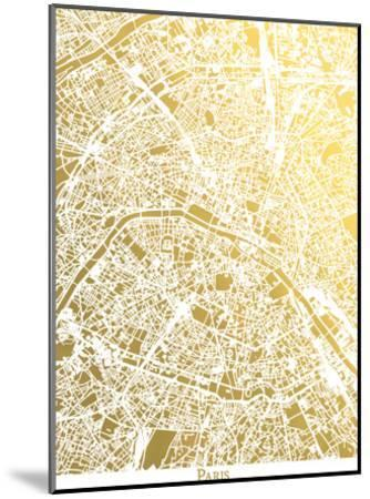 Paris New-The Gold Foil Map Company-Mounted Art Print