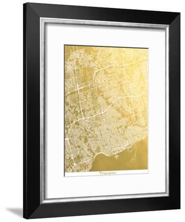 Toronto-The Gold Foil Map Company-Framed Art Print