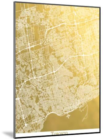 Toronto-The Gold Foil Map Company-Mounted Art Print