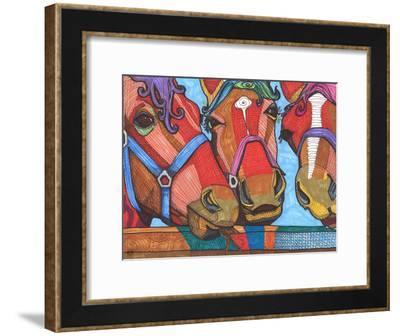 3 Horses Lena & Joanna-Solveig Studio-Framed Art Print