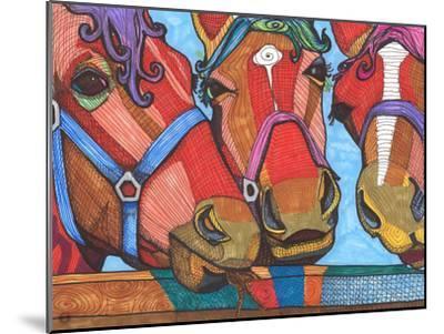 3 Horses Lena & Joanna-Solveig Studio-Mounted Art Print