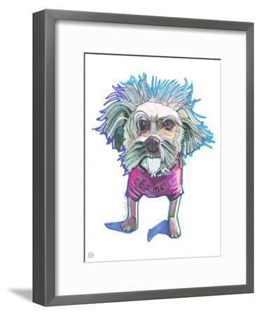 Einstein Dog Bert-Solveig Studio-Framed Art Print