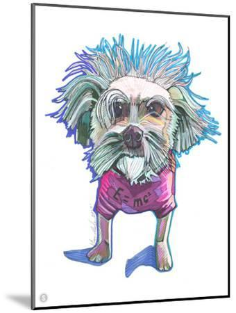 Einstein Dog Bert-Solveig Studio-Mounted Art Print