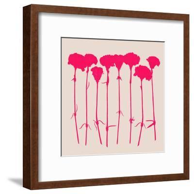 Carnations 2-Garima Dhawan-Framed Art Print