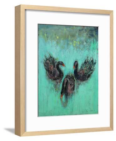 Black Swans-Michael Creese-Framed Art Print