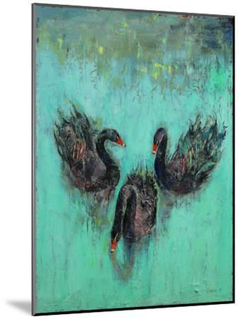 Black Swans-Michael Creese-Mounted Art Print