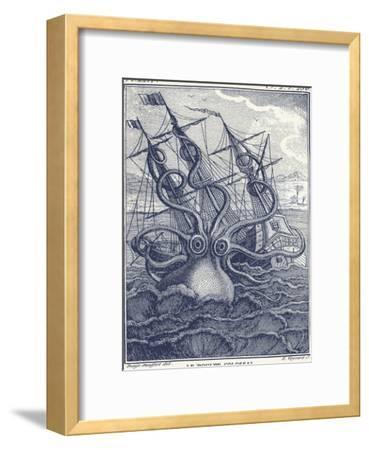 Marine Kraken-Coastal Print & Design-Framed Art Print