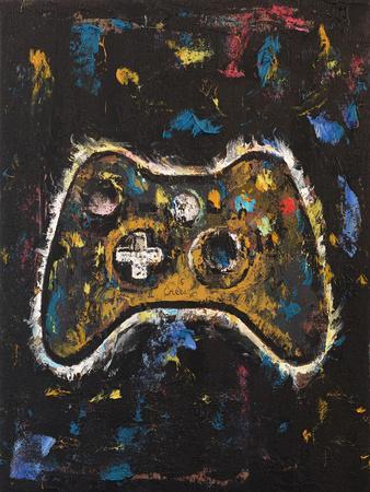 Video Gamer-Michael Creese-Framed Art Print