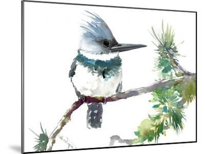 Belted Kingfisher 2-Suren Nersisyan-Mounted Art Print