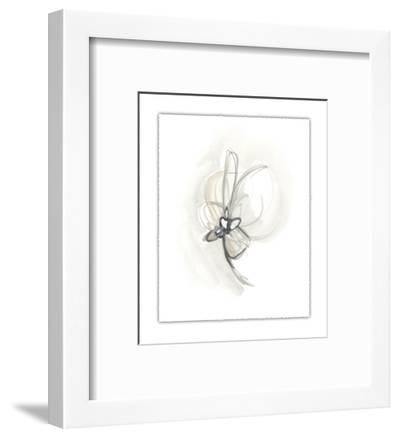 Neutral Floral Gesture II-June Erica Vess-Framed Limited Edition