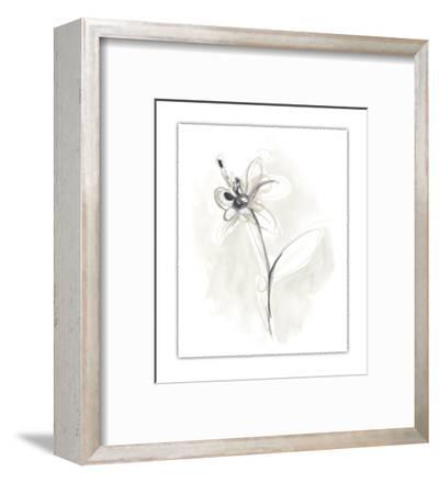 Neutral Floral Gesture IX-June Erica Vess-Framed Limited Edition