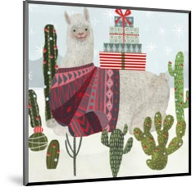 Holiday Llama IV-Victoria Borges-Mounted Art Print
