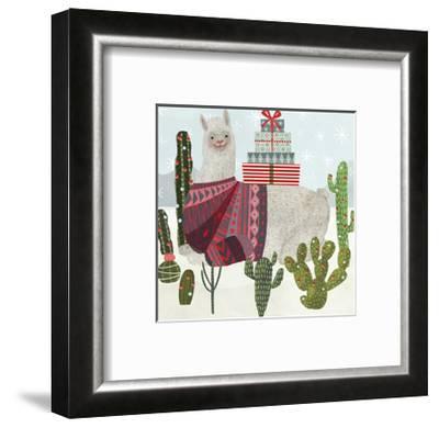 Holiday Llama IV-Victoria Borges-Framed Art Print