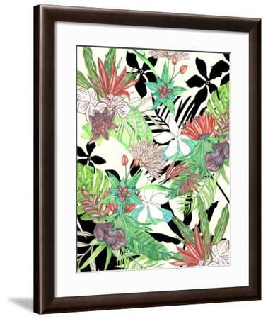 Floral Paradise II-Melissa Wang-Framed Giclee Print