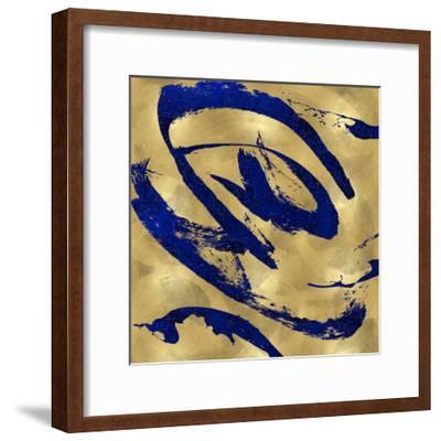 Feisty Blue on Gold-Jordan Davila-Framed Giclee Print