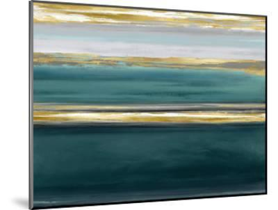Parallel Lines on Teal-Allie Corbin-Mounted Giclee Print