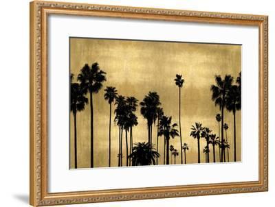 Palm Row on Gold-Kate Bennett-Framed Giclee Print