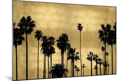 Palm Row on Gold-Kate Bennett-Mounted Giclee Print