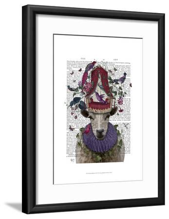 Sheep Birdkeeper-Fab Funky-Framed Art Print
